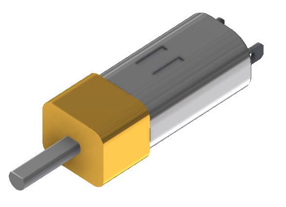 Micro Dc motor Cad Drawing
